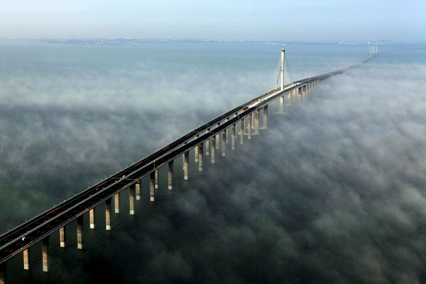 افتتاح أطول جسر في العالم بالصين ( بالصور و الفيديو ) 174991951.jpg