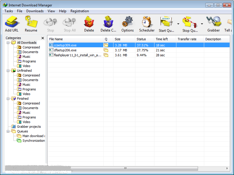 ������ ����� ������� �� �������� Internet Download Manager 6.07 Build 10
