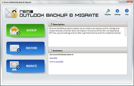برنامج قوي لاخذ نسخه احتياطيه Remo Outlook Backup and Migrate