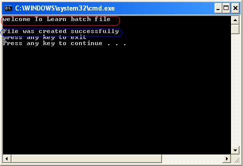 الدرس 1: دورة كتابة الملفات الدفعية : مقدمة و تعليمتي pause , echo 138740105