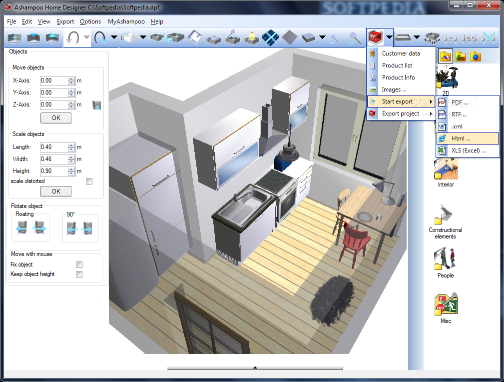 Ashampoo home designer 1 0 0 Free blueprint software