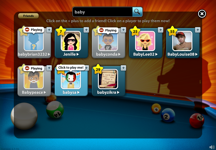 how to add friends on miniclip 8 ball pool