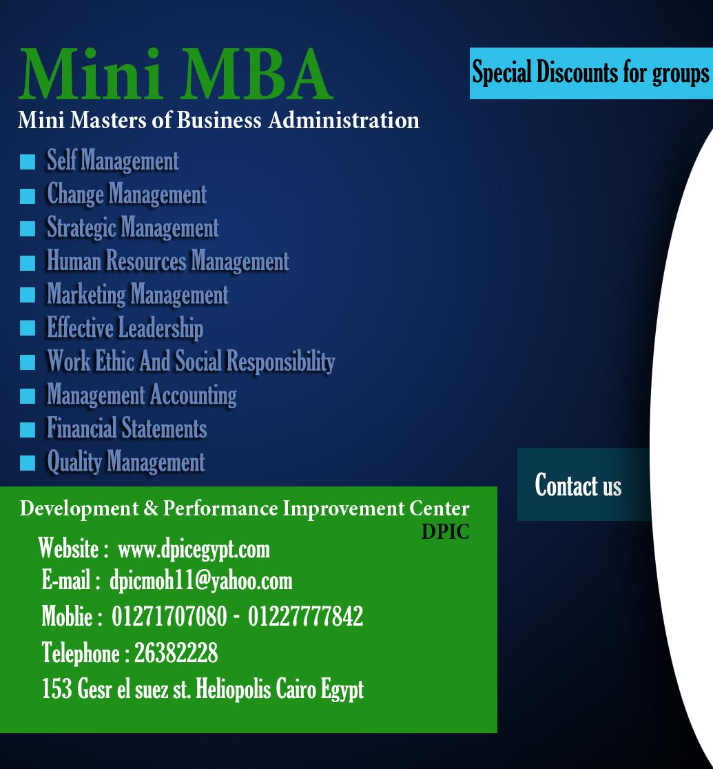 21/9/2013 Mini MBA  ماجستير إدارة الأعمال المصغر