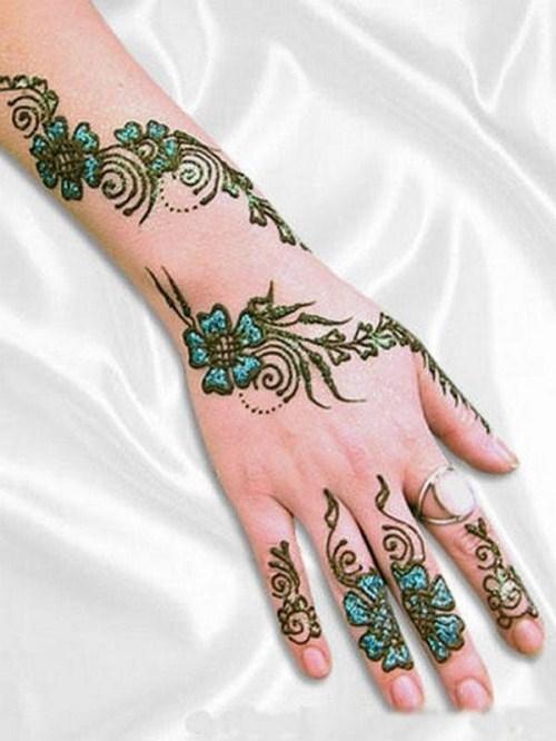 402457756 صور رسومات وتصاميم حنة العروسين, رسومات حنة سودانية حديثة 2014