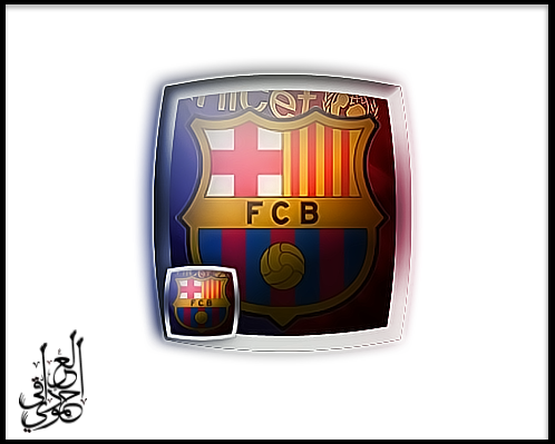 محاولة بسيطة لعمل شعار فريق (برشلونة)