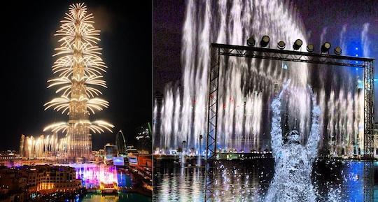 555741566 شاهد صور احتفالات راس السنة الميلادية 2014 فى دبى و برج خليفة
