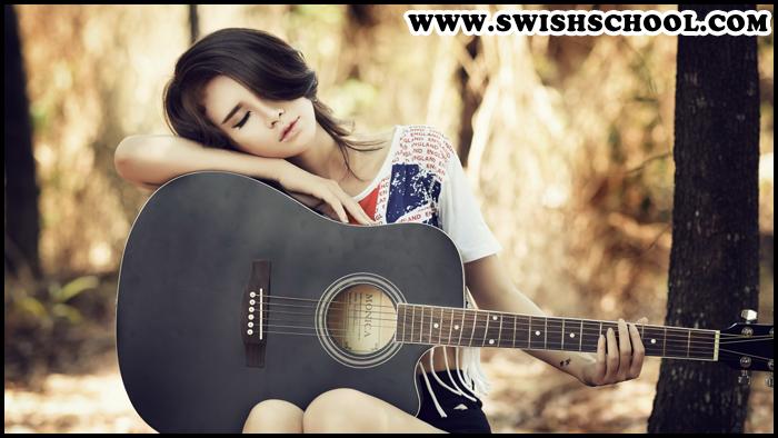 خلفيات موسيقى بنات , خلفيات Music Girl , اجمل خلفيات البنات حاملة الغيتار