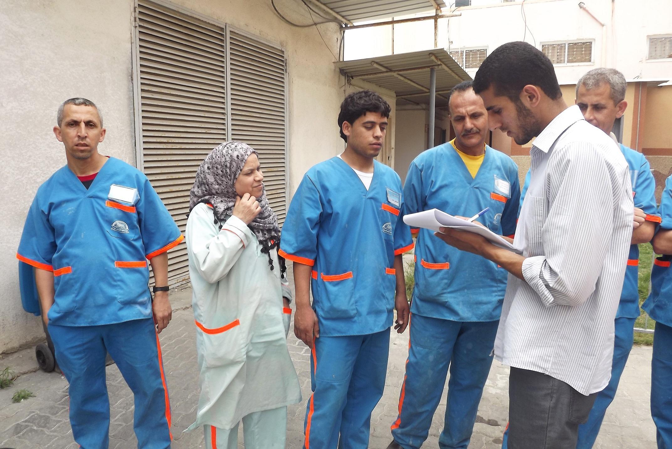 جانب من الجولة التفقدية بمستشفى النصر