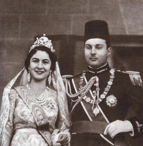 نتيجة بحث الصور عن حفل زفاف الملك فاروق والملكة فريدة