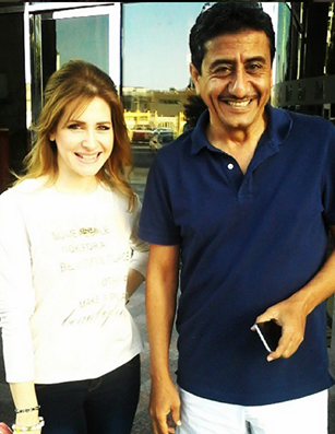 Kenza with Arab's Got Talent Star Nasser El Kassabi in Dubai