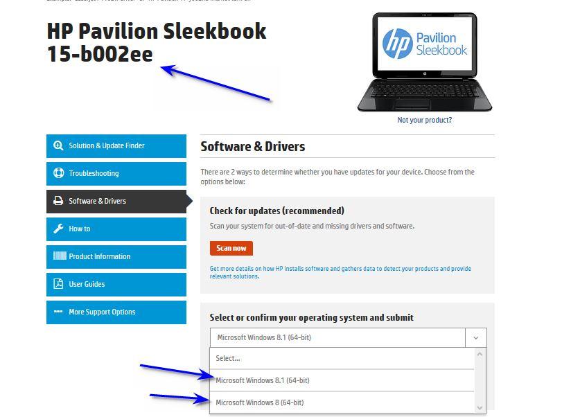 ممكن تعاريف HP Pavilion Sleekbook 15-b002ee