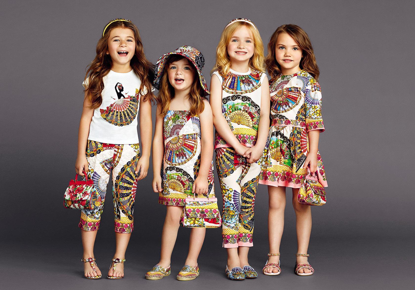 DOLCE & GABBANA summer 2015 girls collection
