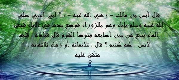 تكثير المياه بين يدى الرسول