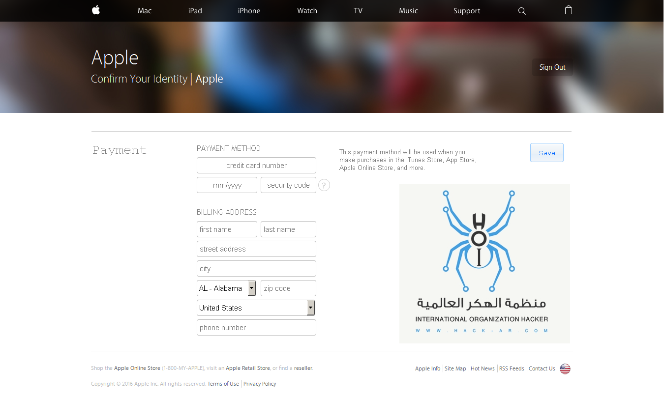 ������ [ Confirm Your Identity | Apple ]  13 / 05 / 2016