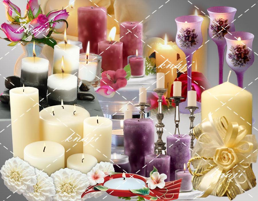 اجمل الشموع المتنوعة باجمل الاشكال