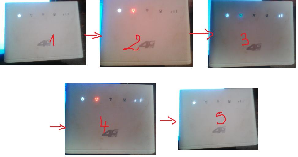 مشكل ضوء الباور مودم B310s