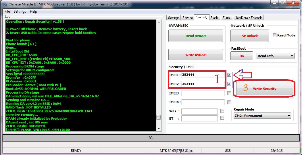 تصحيح رقم الإيمي لهاتف كوندور griffe g4 pgn513