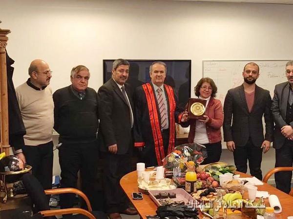 شبكة الاعلام واكاديمية البورك للعلوم تحتفيان برائدة الصحافة الاستاذة مريم السناطي