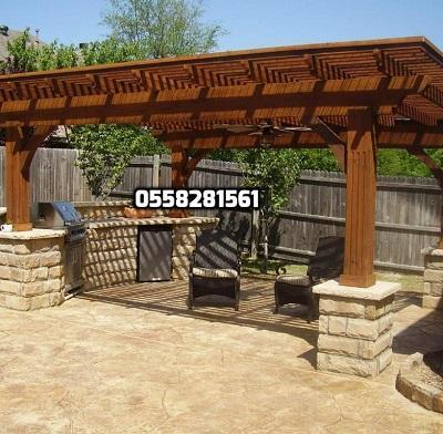 تشكيلة برجولات خشبية بتصميمات ومميزة