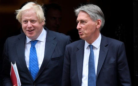 Fresh Tory war as Philip Hammond mocks Boris Johnson and says he won't be PM