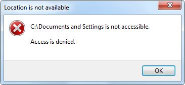 مشكلة في مجلد C:\Documents and Settings