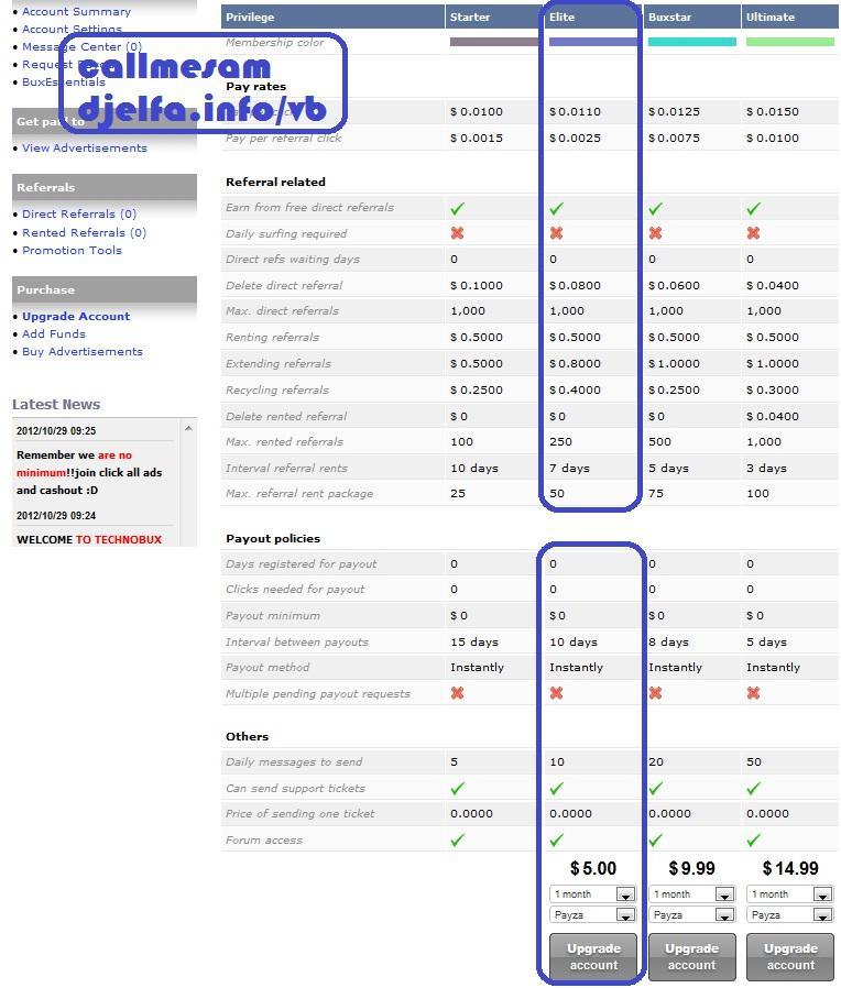 الشركة الجديدة TechBux للضغط على الاعلانات بدون حد أدنى   عضويةElite مجانية ☞