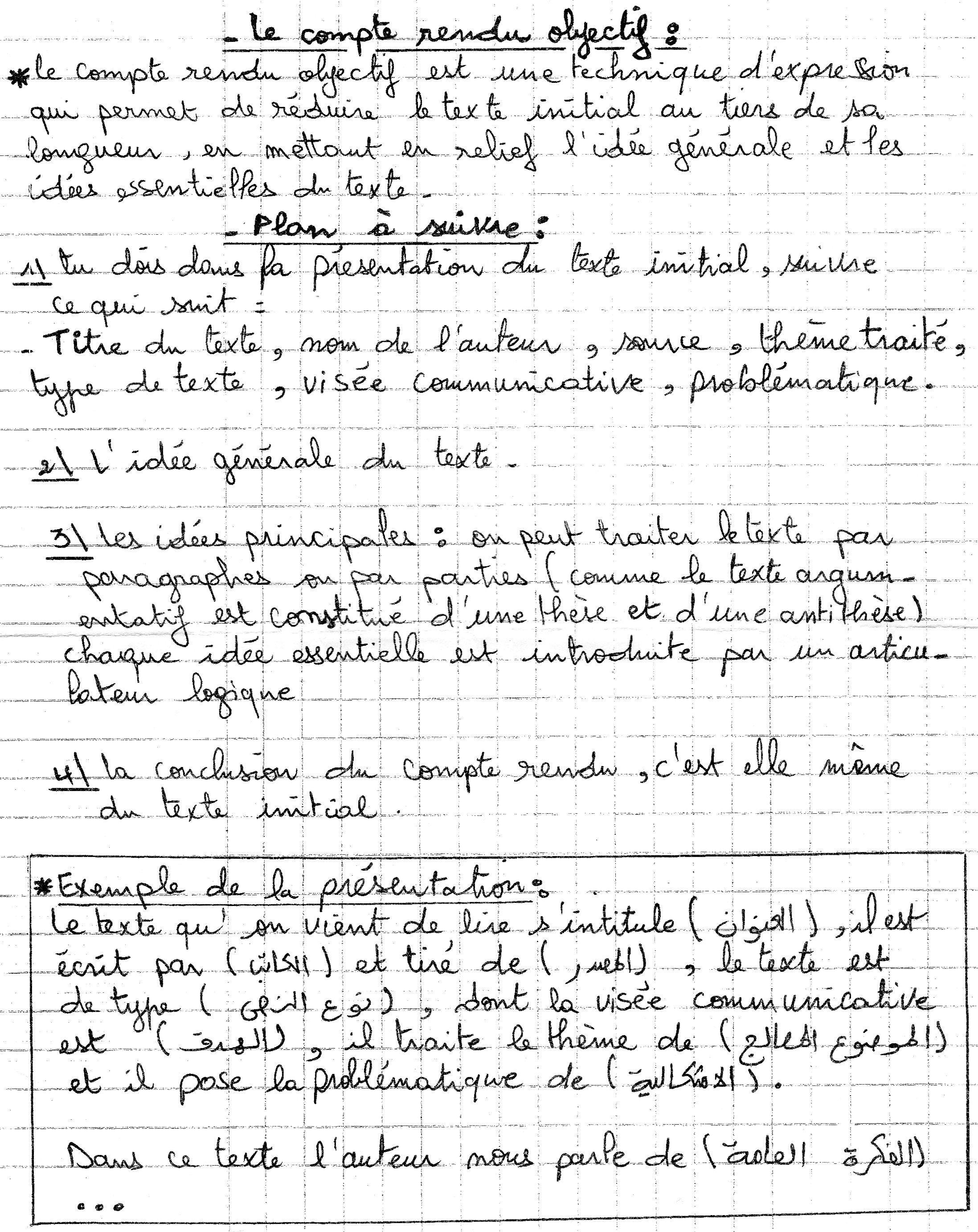 Exemple D Un Compte Rendu D Un Texte - Exemple de Texte